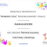 """Tinklo """"Kiekvienam"""" ambasadoriai"""
